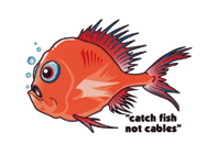 'Catch fish not cables' logo